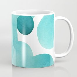 Aqua Bubbles: Abstract turquoise watercolor painting Coffee Mug