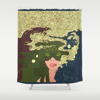 cigarettes Shower Curtains featuring Heavy Smoke by Rendra Sy
