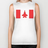 contemporary Biker Tanks featuring Contemporary Canada by Meg Harder