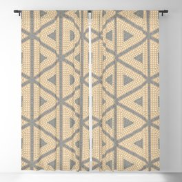 Textured Tile Triangle Pattern Design Blackout Curtain