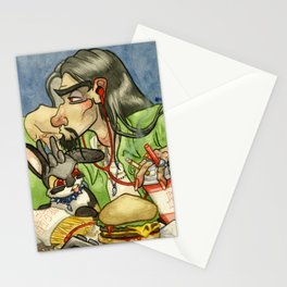 Double Cheeseburger Deluxe Combo Stationery Cards