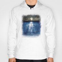 dolphins Hoodies featuring dolphins, civilization. by Viviana Gonzalez