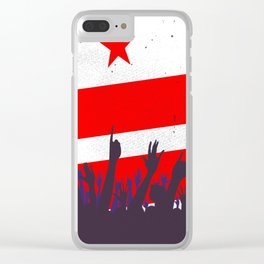Washington DC Flag with Audience Clear iPhone Case
