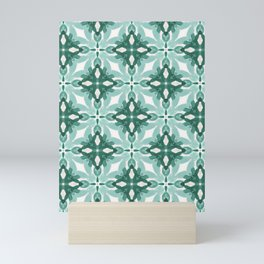 Watercolor Green Tile 2 Mini Art Print