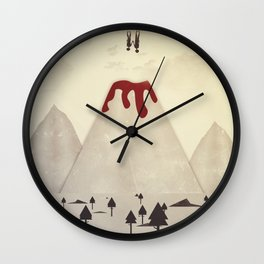 Fall With Me Wall Clock