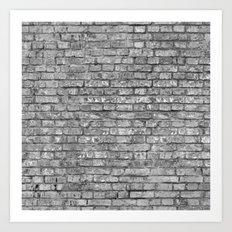 Vintage Brick Wall Art Print