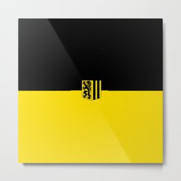 Flag of Dresden Metal Print