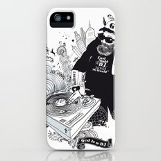 GOD IS A DJ iPhone (5, 5s) Slim Case