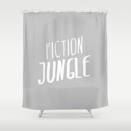 Fiction Jungle Book Blog White Logo Shower Curtain