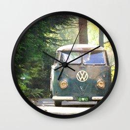 Peace Love Nature Wall Clock