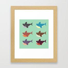 Snarky Sharky Framed Art Print