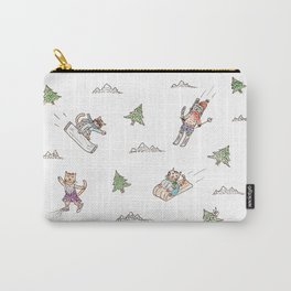 Cats & winter sports Carry-All Pouch