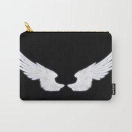 White Angel Wings Carry-All Pouch