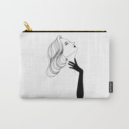 Woman with glove Carry-All Pouch