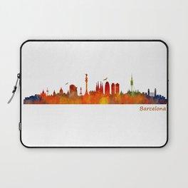 Barcelona City Skyline Hq _v1 Laptop Sleeve