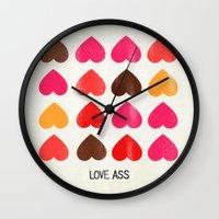 ass Wall Clocks featuring LOVE ASS by Lulla