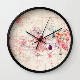 Lakeland map Florida painting Wall Clock
