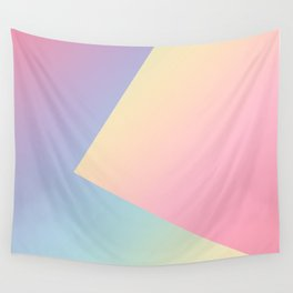 Geometric abstract pastel rainbow colors Wall Tapestry