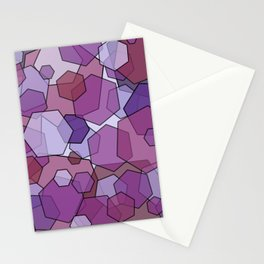 Converging Hexes - Mauve Pink and Purples Stationery Cards