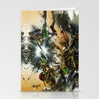 battlefield Stationery Cards featuring The Battlefield by Fresh Doodle - JP Valderrama