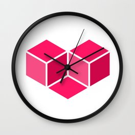 Isometric Love Wall Clock