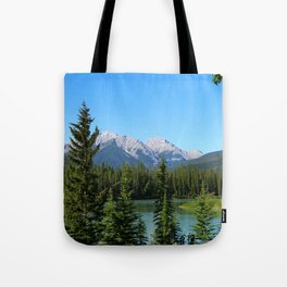 Along The Bow Valley Parkway Tote Bag