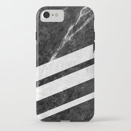 Black Striped Marble iPhone Case