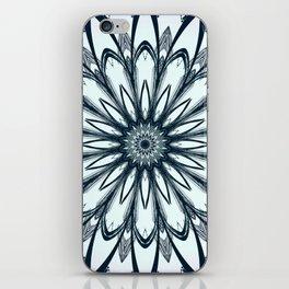Black and White w/Teal Accent Mandala iPhone Skin