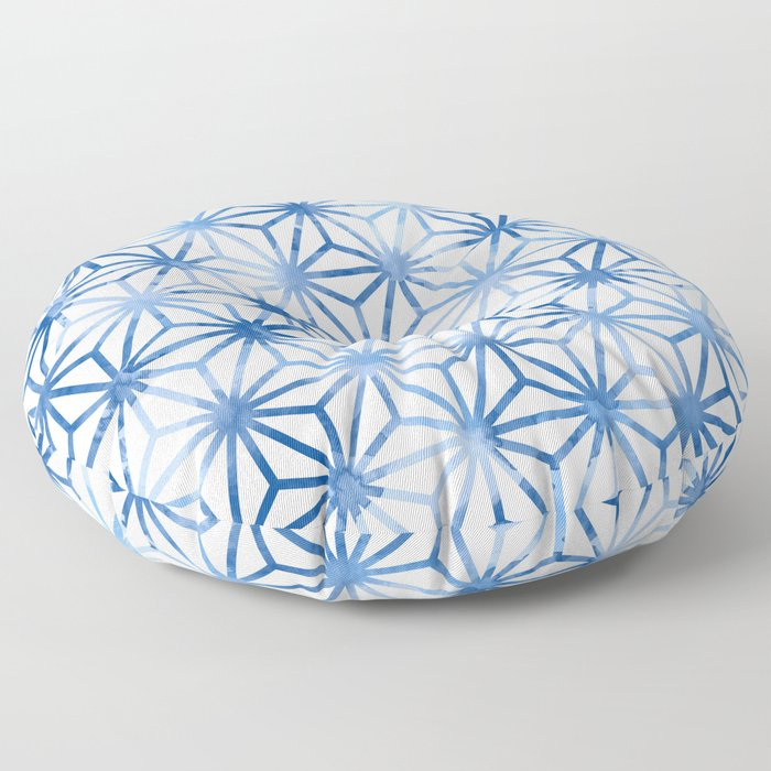 Tri Pattern Indigo Floor Pillow