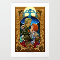 fifth element Art Prints featuring The Fifth Element by eva cabrera