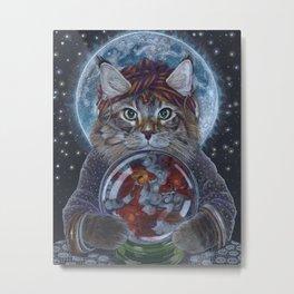 Fortune Teller Cat Metal Print