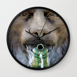 Lion Fountain Wall Clock