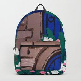 Blue Wooden Door  Backpack