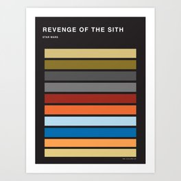 The colors of StarWars - Revenge of the sith episode 3 Art Print