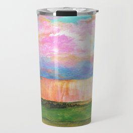 April Showers, Abstract Landscape Travel Mug