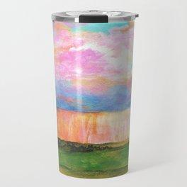 April Showers, Abstract Landscape Travel Mug