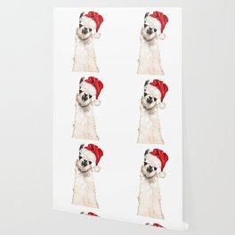 Christmas Llama Wallpaper