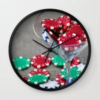 poker Wall Clocks featuring Poker night by smittykitty