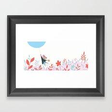 Mouse Balloon Framed Art Print