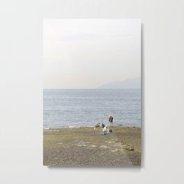 Vancity Seawall Metal Print