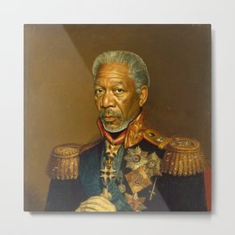 Morgan Freeman - replaceface Metal Print