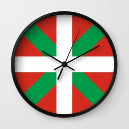 Basque Country: Euskaldun Flag Wall Clock