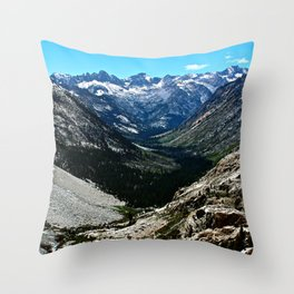Sierra Nevada Mountain Landscape Throw Pillow