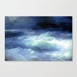 Among the waves- I. Aivazovsky Canvas Print
