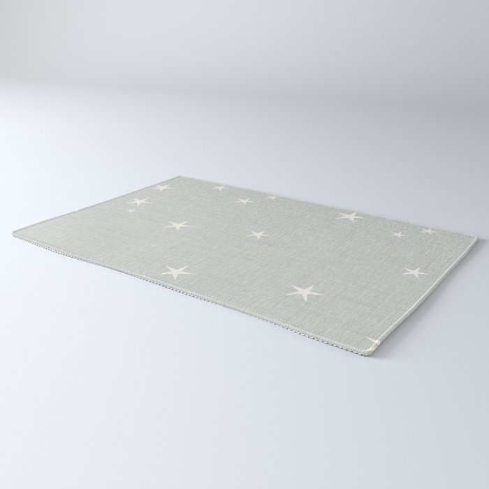 Grey star with fabric texture - narwhal collection Rug