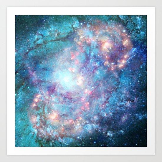 Abstract Galaxies 2 Art Print