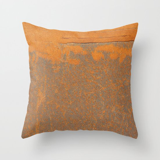 Iron and Rust Throw Pillow by Patterns And Textures Society6