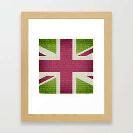 Union Jack and Rule Britannia! (Green-Purple) Framed Art Print