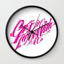 Gettin Jiggy With It Wall Clock