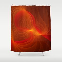 Much Warmth, Abstract Fractal Art Shower Curtain